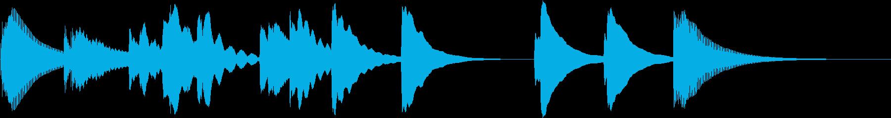 マリンバのみのかわいいジングルの再生済みの波形