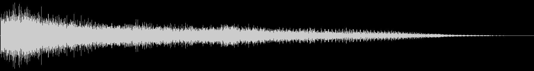 メタリックトレイル付きサスペンドピアノの未再生の波形