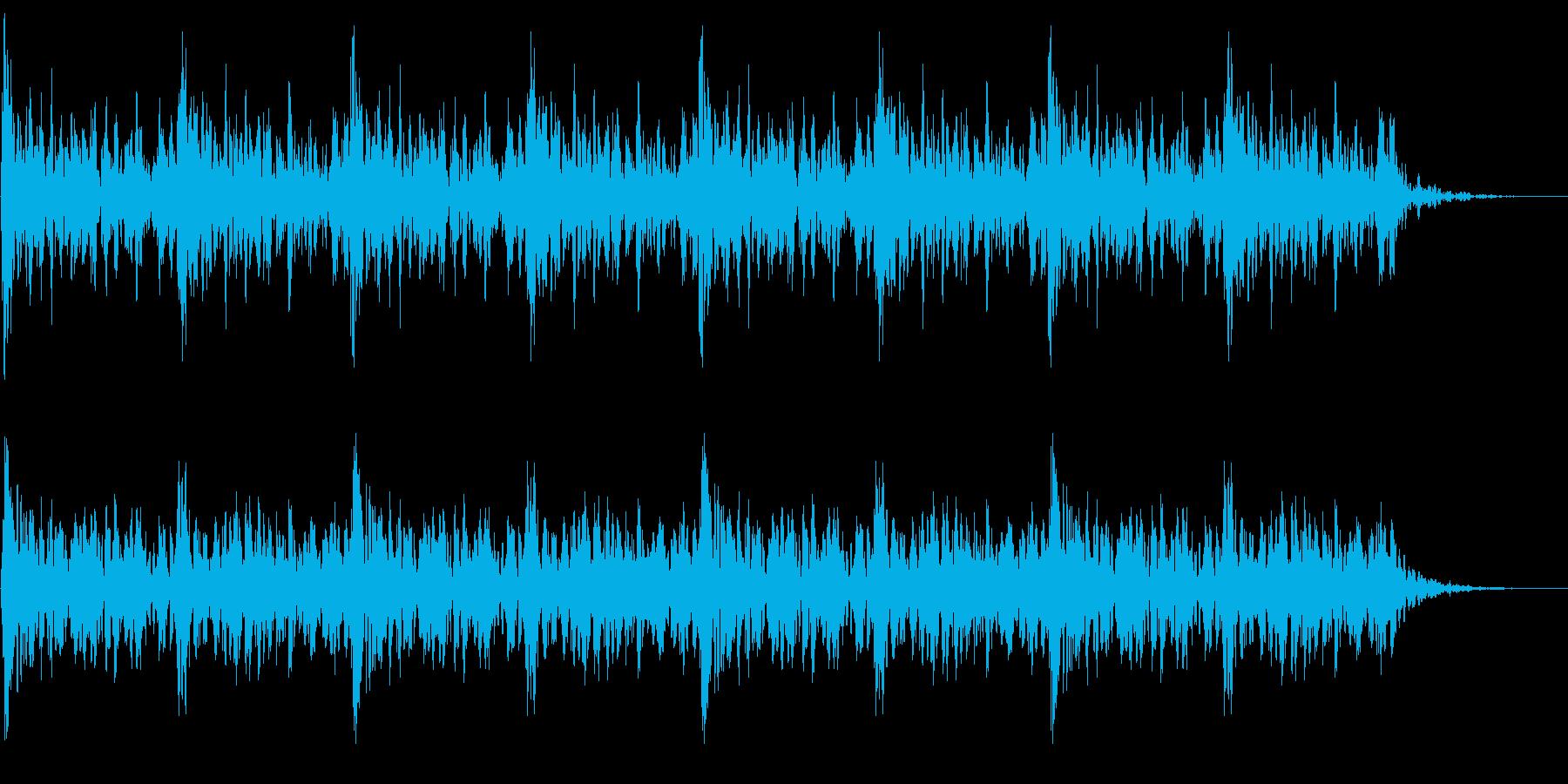 太鼓 躍動的 迫力 効果音 パターン4の再生済みの波形