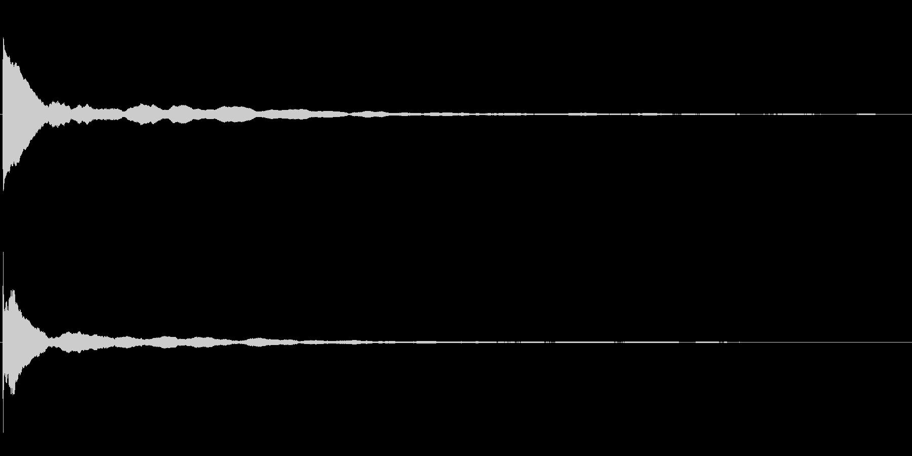 ピアノ(単音)ポーンの未再生の波形