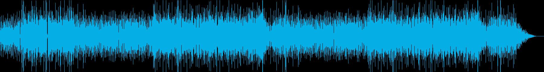 ミドルテンポのファンクっぽいBGMの再生済みの波形