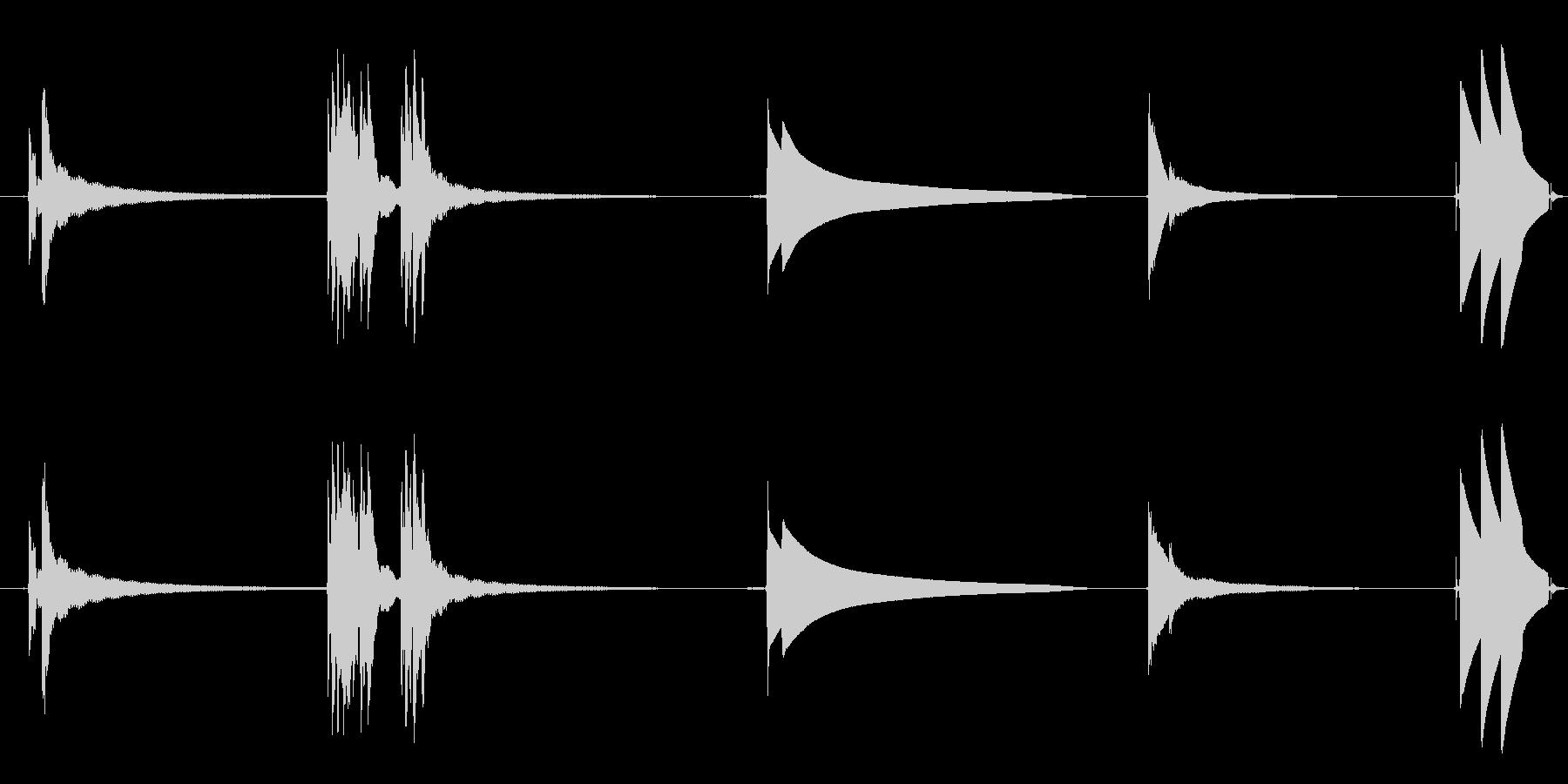 ベル、ドア、ドアベル、4バージョン...の未再生の波形