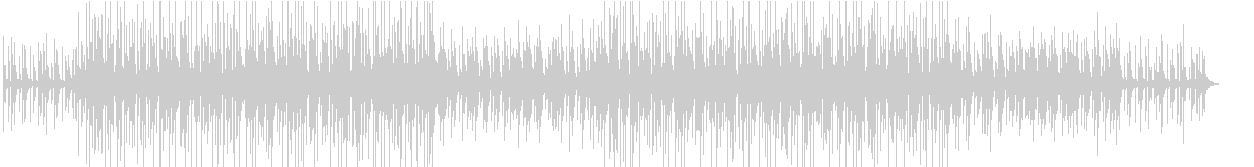 ギターとベースがユニゾンするポップロックの未再生の波形