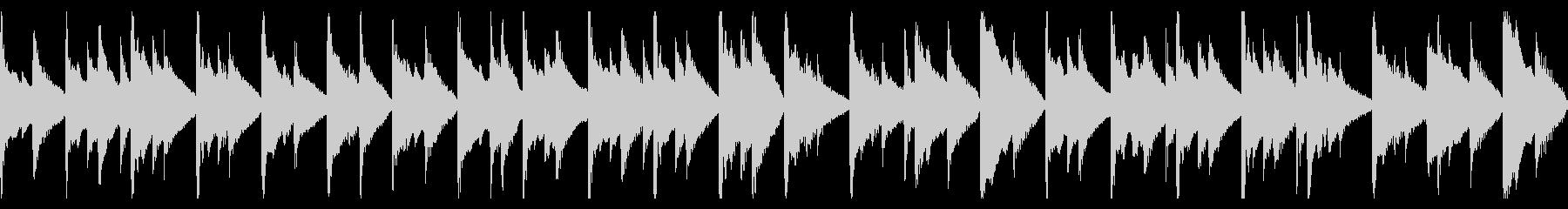 時計の音が印象的なピアノ&ベースBGMの未再生の波形