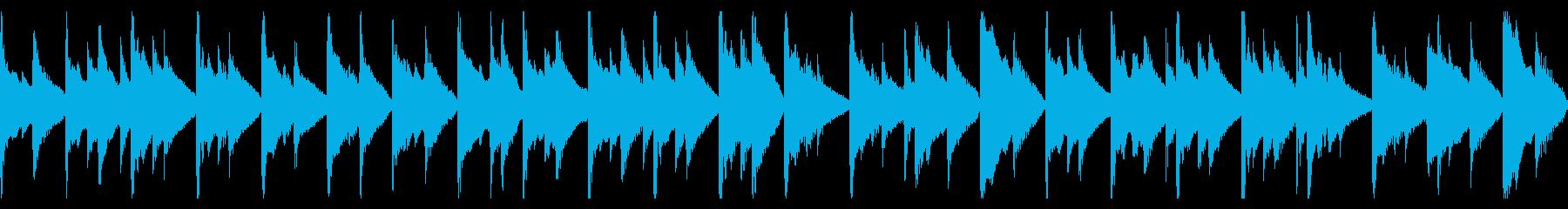 時計の音が印象的なピアノ&ベースBGMの再生済みの波形