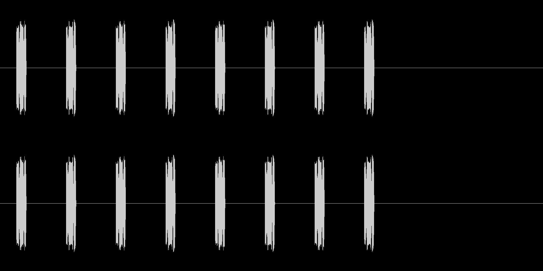 コミカルな足音 B-10-3の未再生の波形