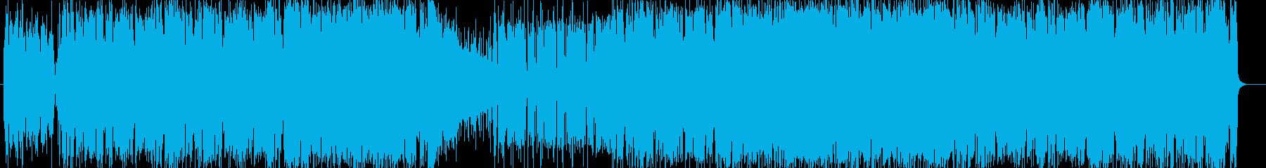 アップテンポのシンセハウスの再生済みの波形
