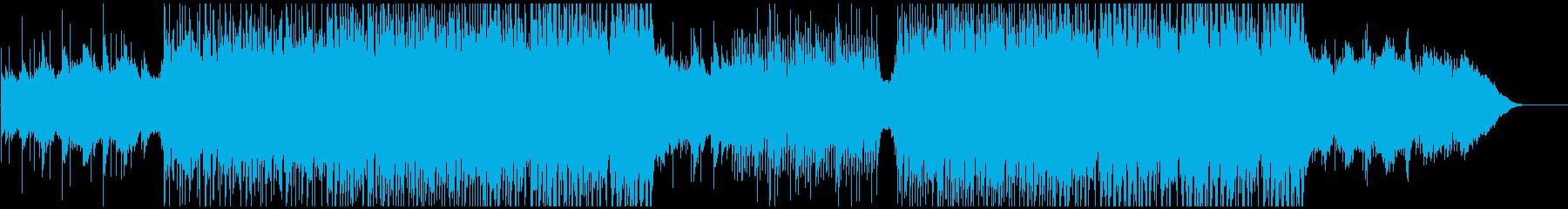 オープニング映像に 爽やかギターとピアノの再生済みの波形