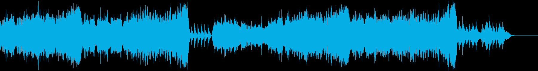 ストリングスのバラード曲の再生済みの波形