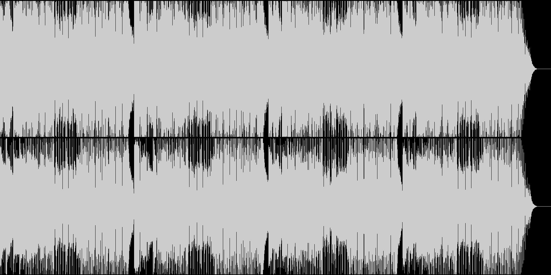 優しい感じのロックの未再生の波形