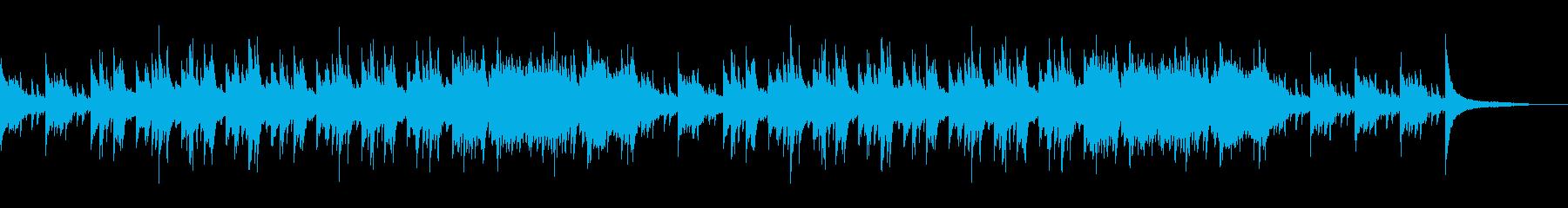 天気予報BGMに最適なピアノストリングスの再生済みの波形