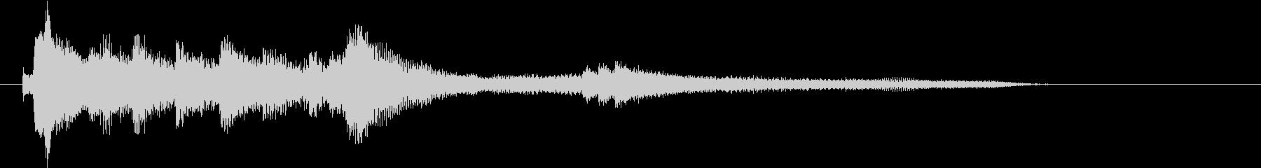穏やかなピアノソロ ジングルの未再生の波形