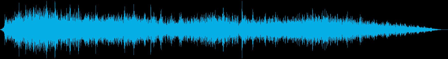 電車が駅に到着し減速する音の再生済みの波形