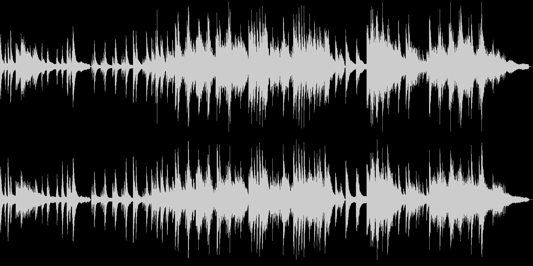 静かで優しいソロピアノのジャズバラードの未再生の波形