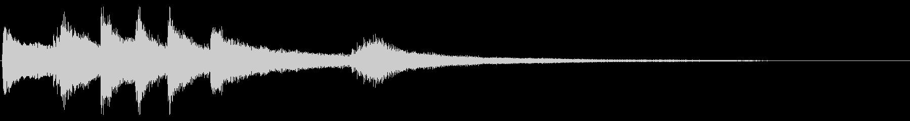 KANTジングルピアノ&ギターの未再生の波形