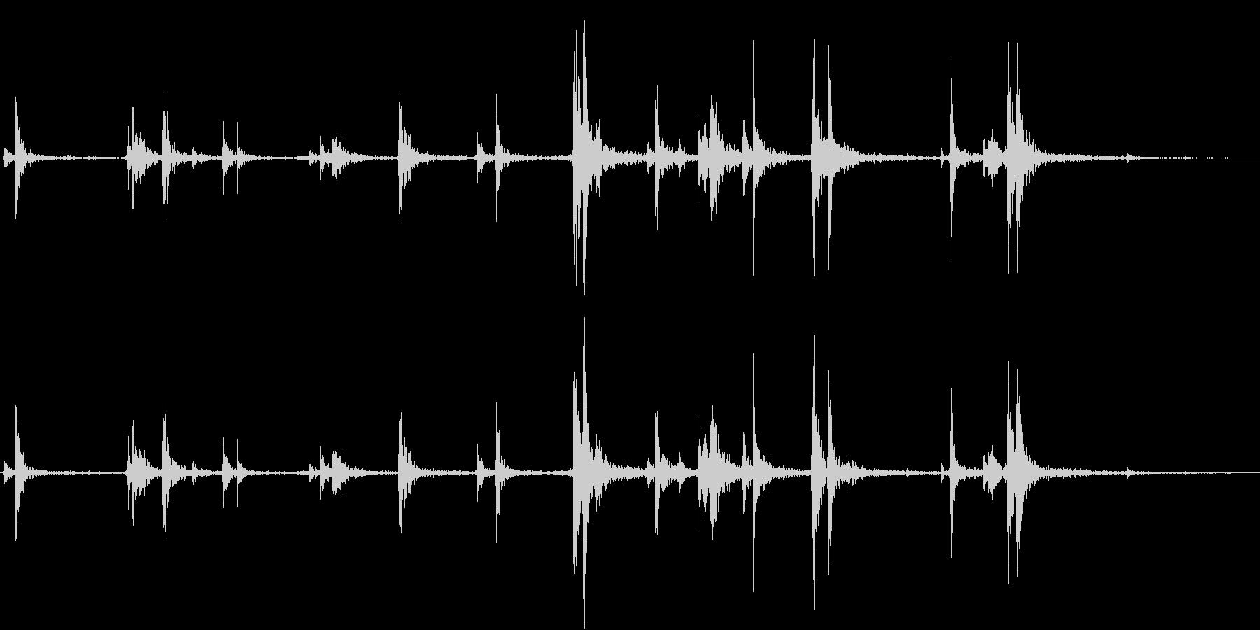 【生録音】弁当・惣菜パックの音 1の未再生の波形