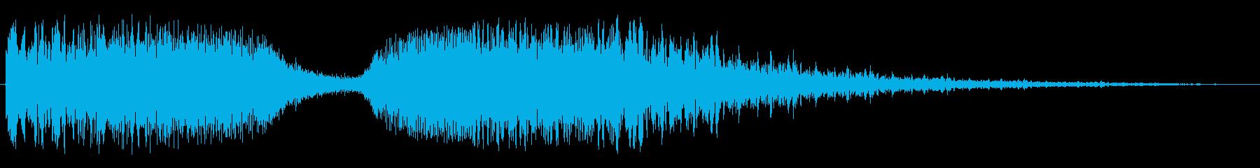 シャララ(アップダウン・ワープ等)の再生済みの波形