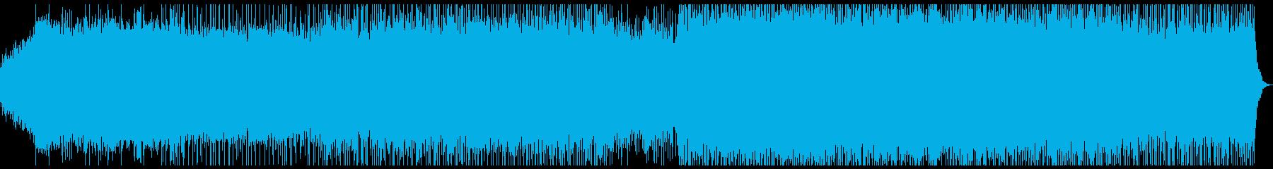 ピアノとバイオリンの躍動感のあるポップスの再生済みの波形