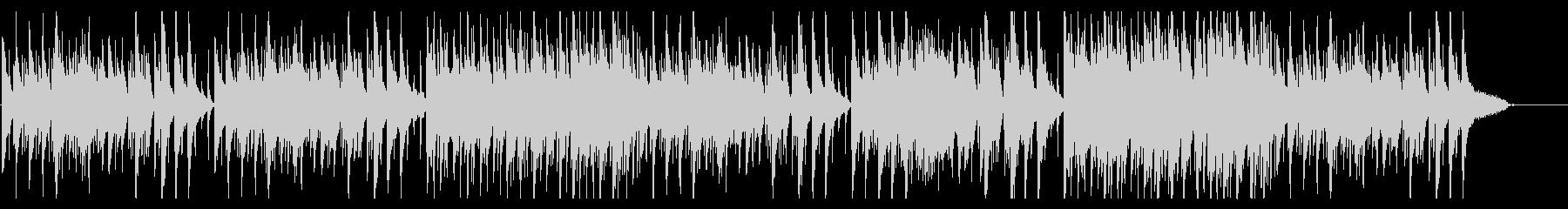 落ち着いたオールドジャズ風BGMの未再生の波形