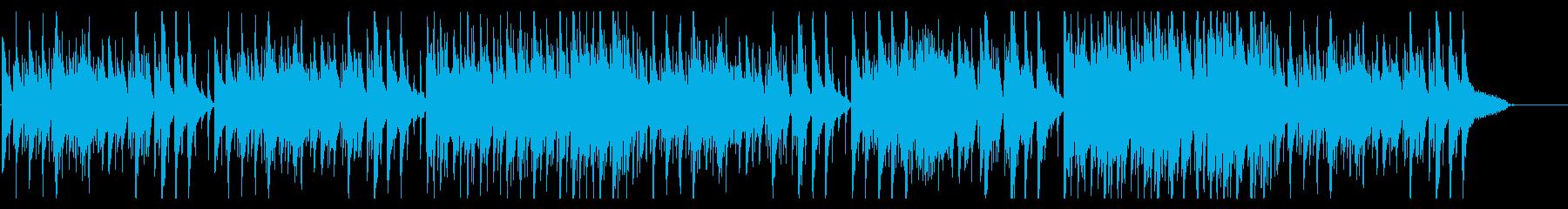 落ち着いたオールドジャズ風BGMの再生済みの波形
