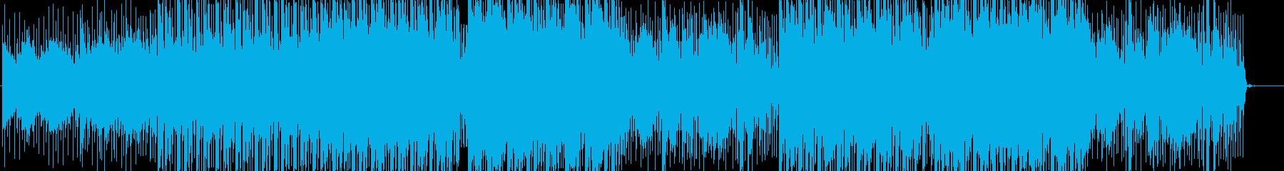 ピアノとシンセの幻想的で深いアンビエントの再生済みの波形