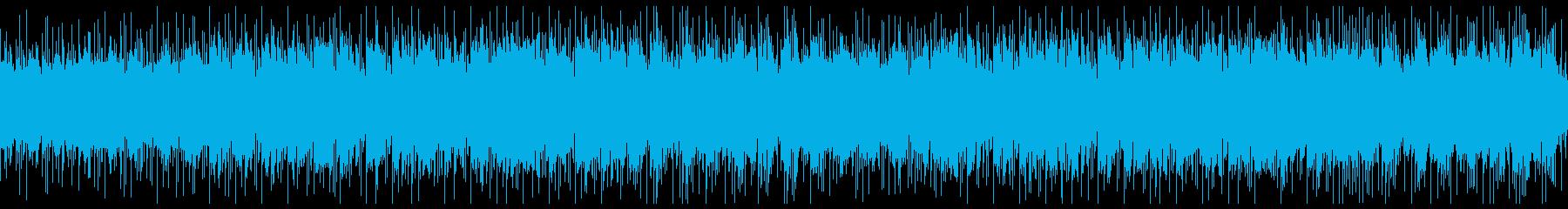 ゲームの氷の洞窟のシーンをイメージした曲の再生済みの波形