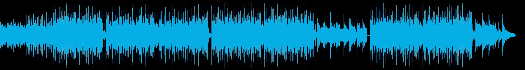 明るいピアノバイオリンポップ:Eギター抜の再生済みの波形