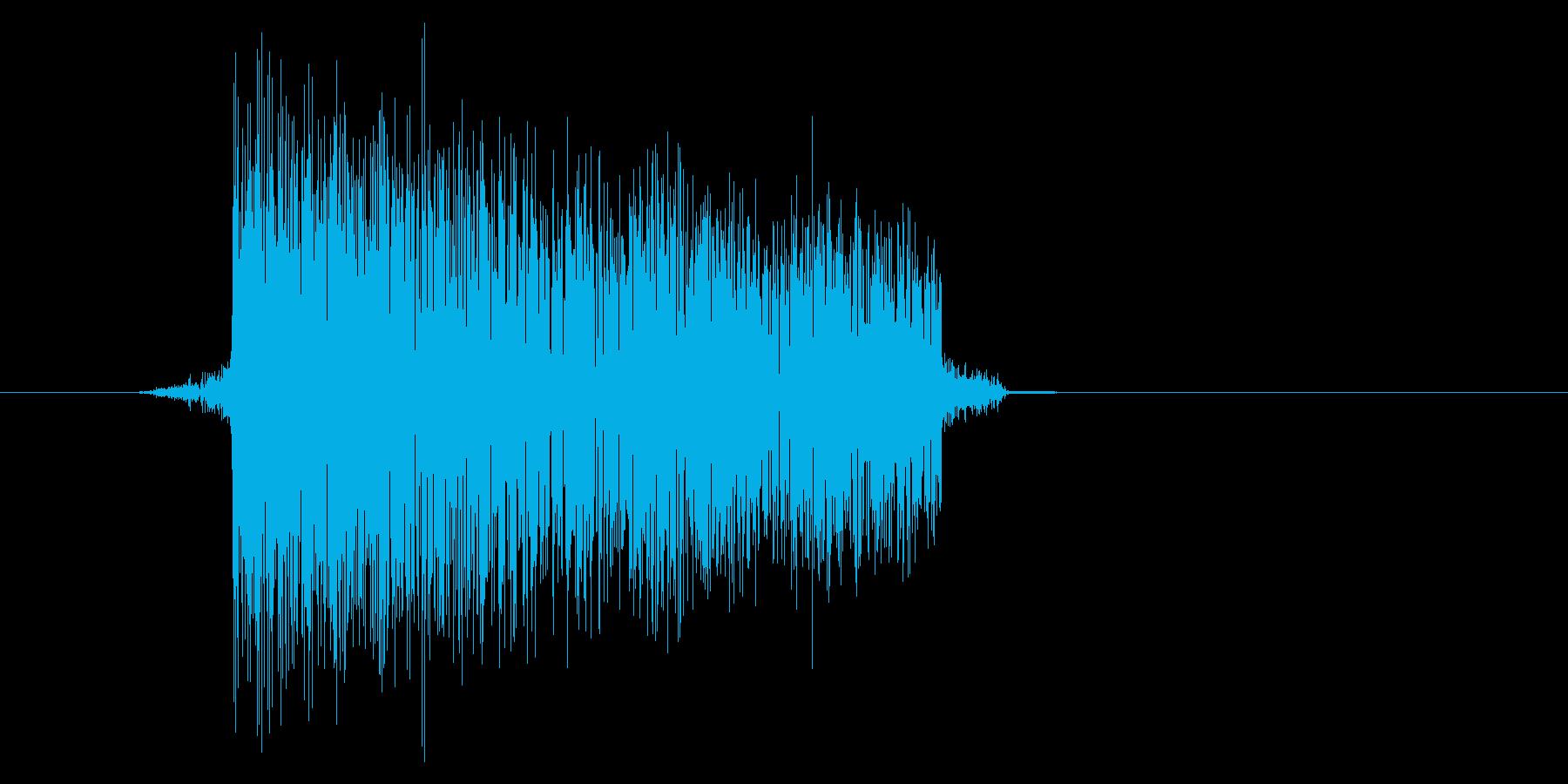 ゲーム(ファミコン風)爆発音_009の再生済みの波形