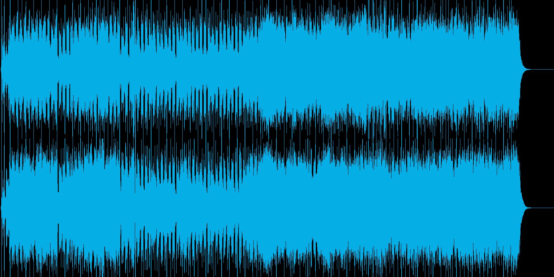 明るく疾走感のある軽快なポップロックの再生済みの波形