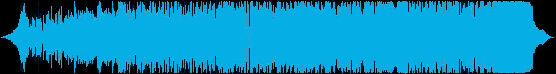 衝撃的で運命的な雰囲気のEDMの再生済みの波形