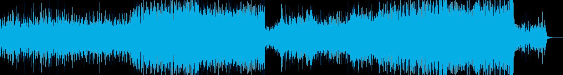 和風ダブステップ風BGMの再生済みの波形
