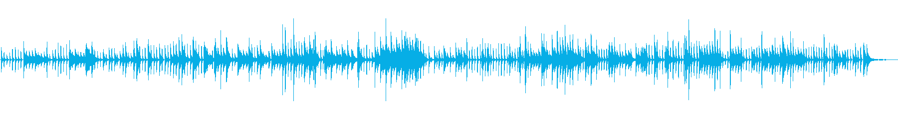 生ピアノソロ・ゆっくり着実にコツコツとの再生済みの波形