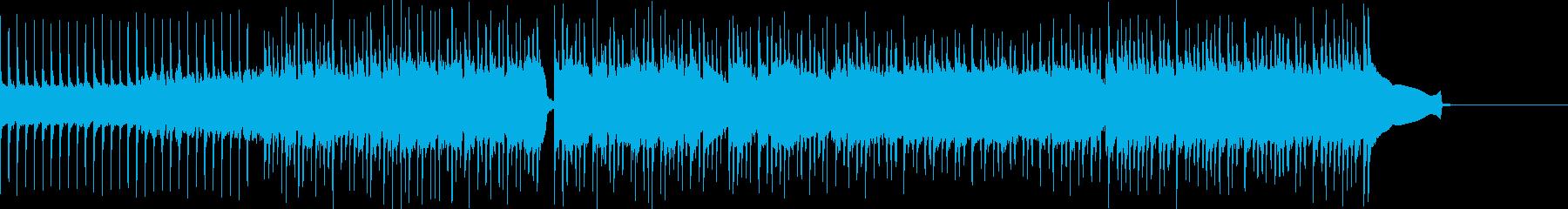 重いロックなポップスの再生済みの波形