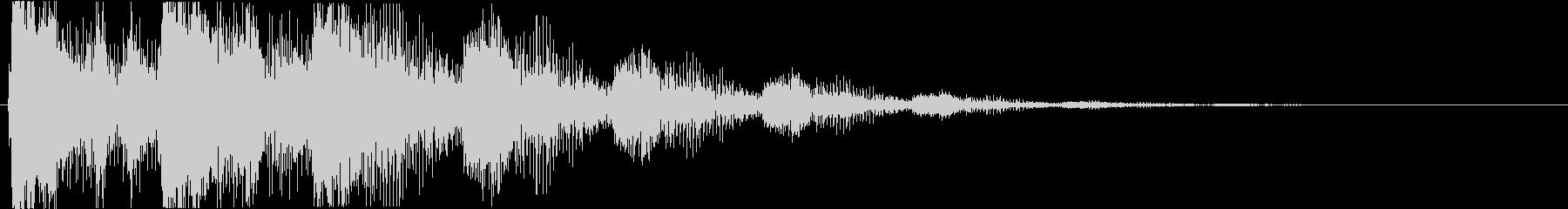 プッ:ラッパの音・失敗・バカにするcの未再生の波形