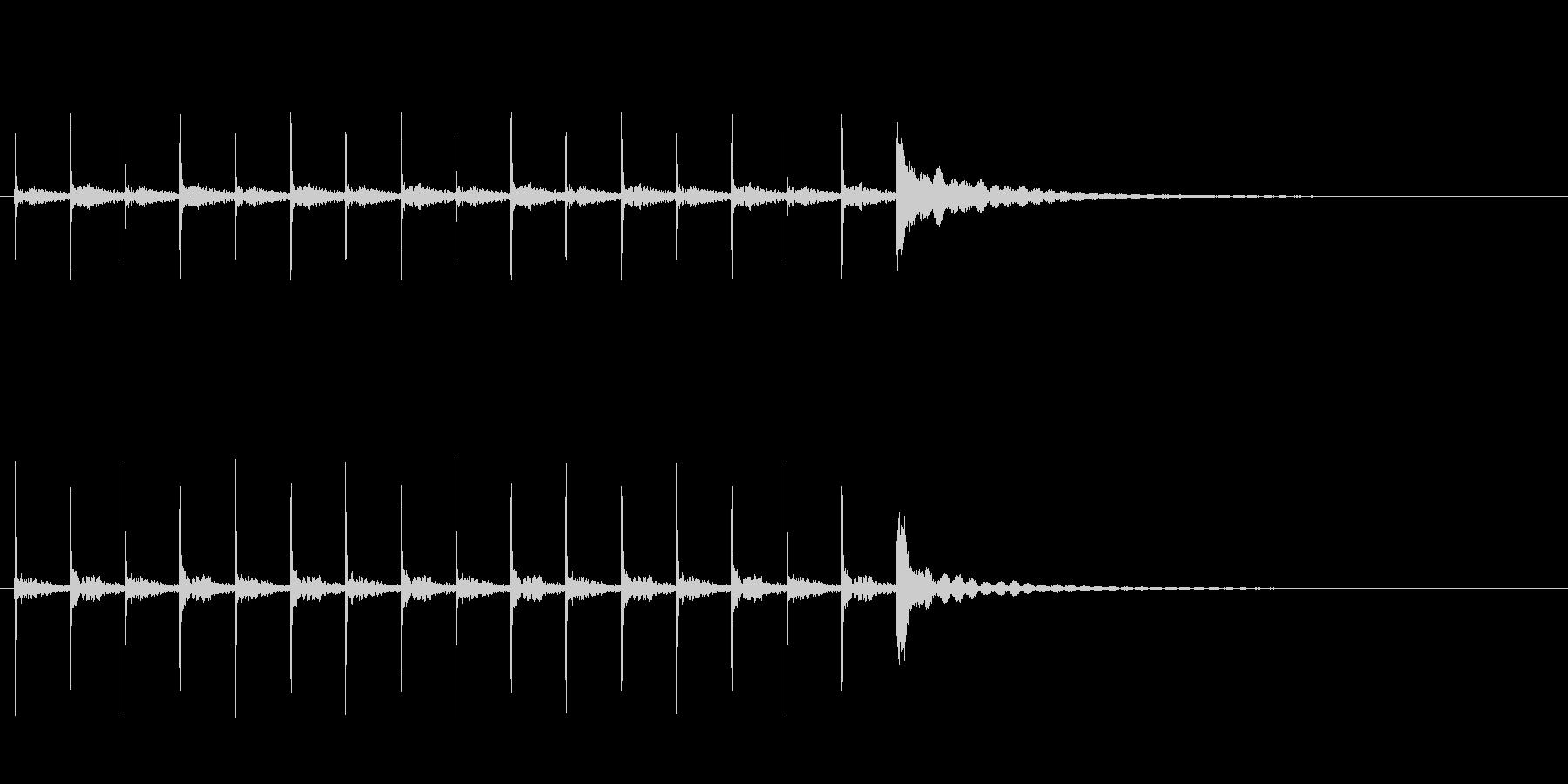 木魚ぽくぽくチーン10秒シンキングタイムの未再生の波形