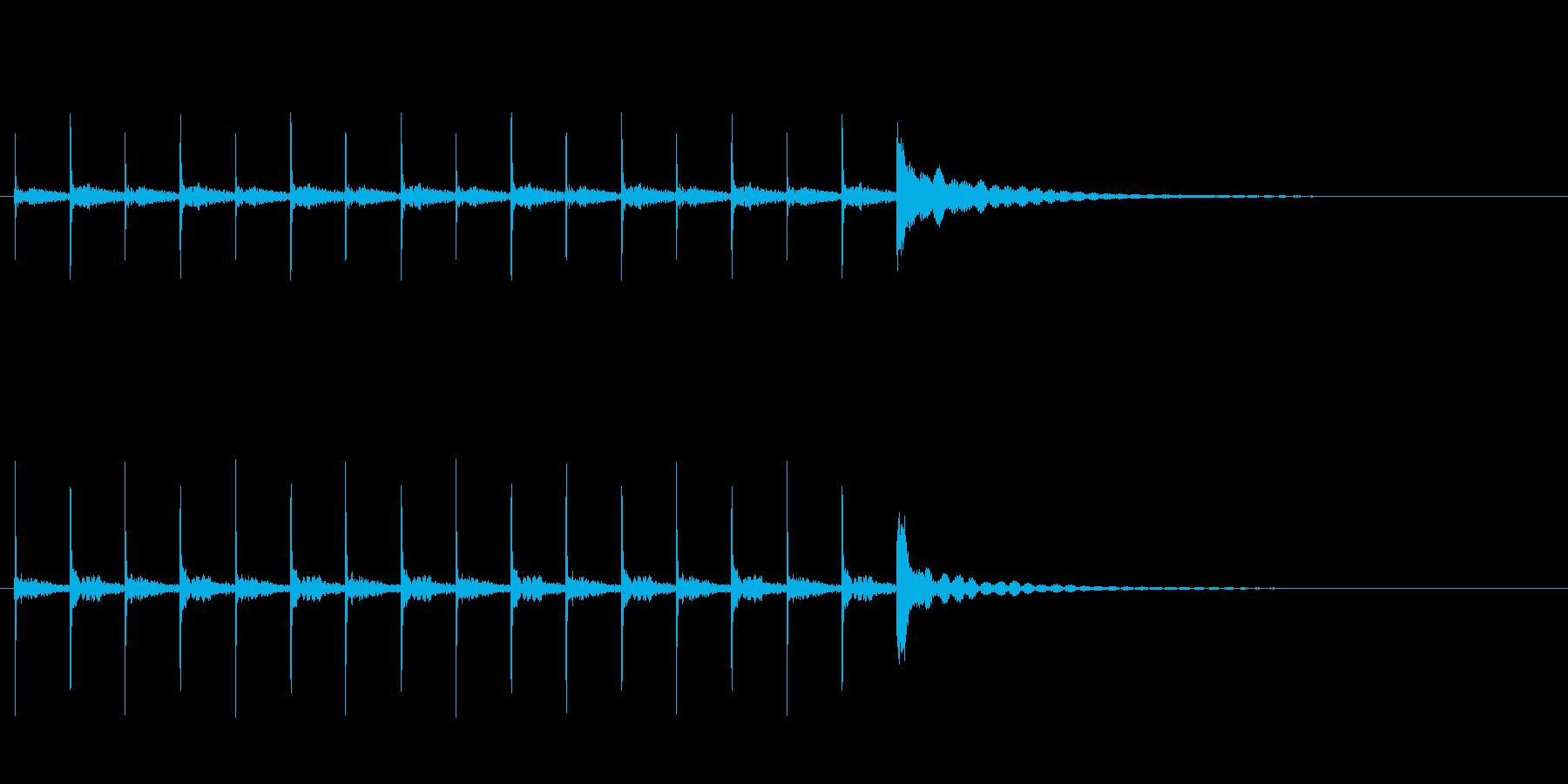 木魚ぽくぽくチーン10秒シンキングタイムの再生済みの波形