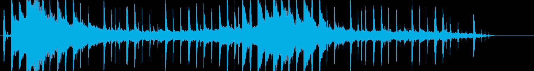 やさしくて落ち着きあるピアノBGMの再生済みの波形