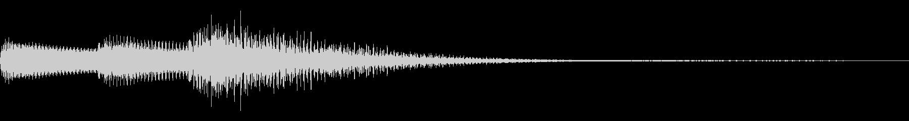 シンプルなシンセサイザー ジングルの未再生の波形
