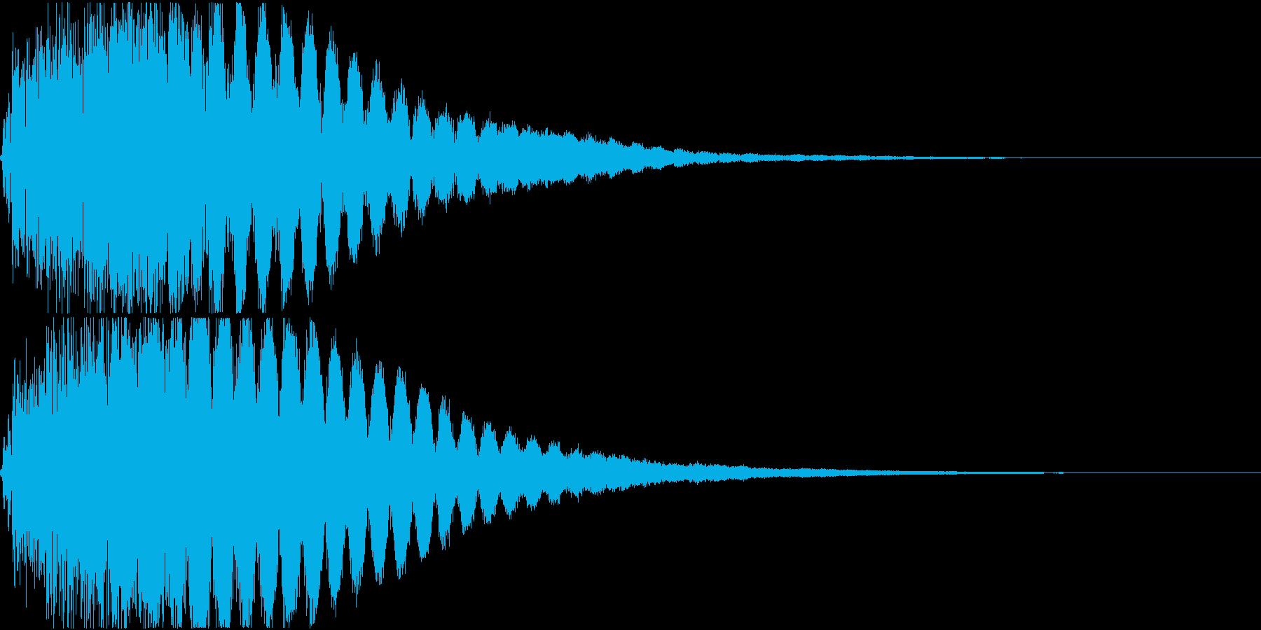 キュイン ギュイーン シャキーン 07の再生済みの波形