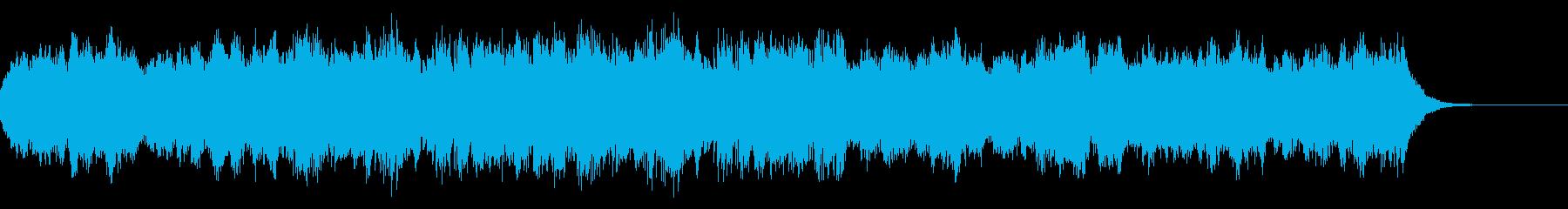 目まぐるしい忙しさを表現したBGMの再生済みの波形