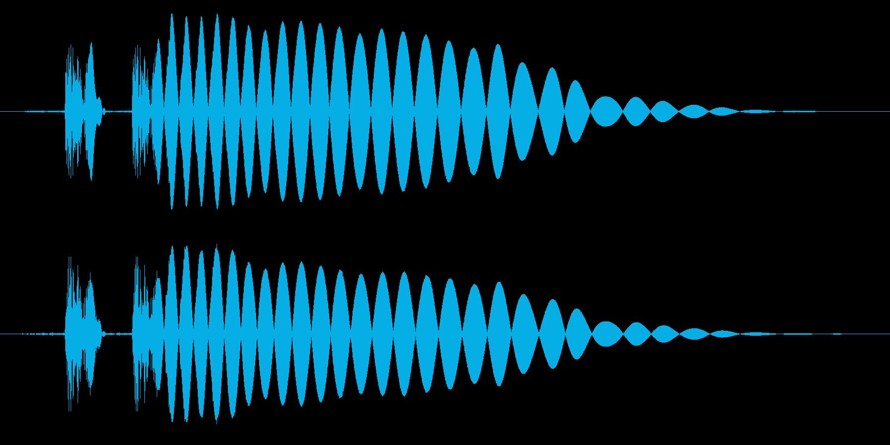 EDM/IDM系の埋もれないバスドラ5cの再生済みの波形