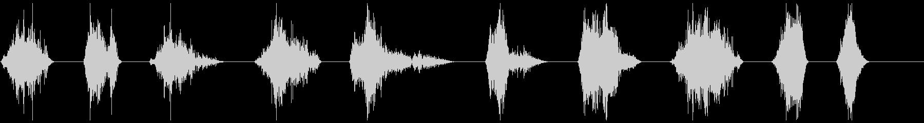 モンスターのうなり声1-10の未再生の波形