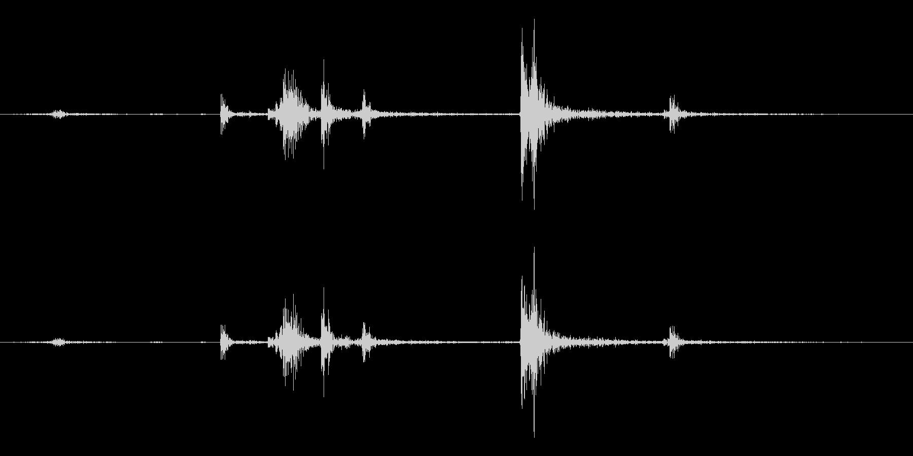 【生録音】パッケージ 開封音 3の未再生の波形