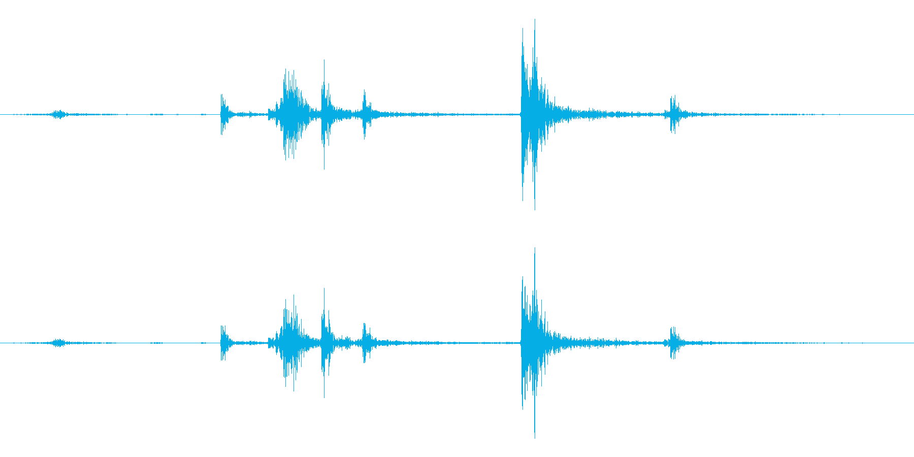 【生録音】パッケージ 開封音 3の再生済みの波形