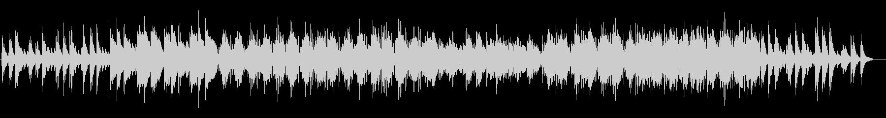 穏やかなピアノサウンドの未再生の波形