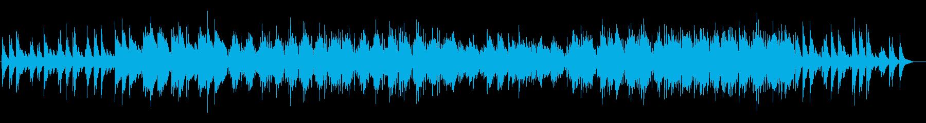 穏やかなピアノサウンドの再生済みの波形