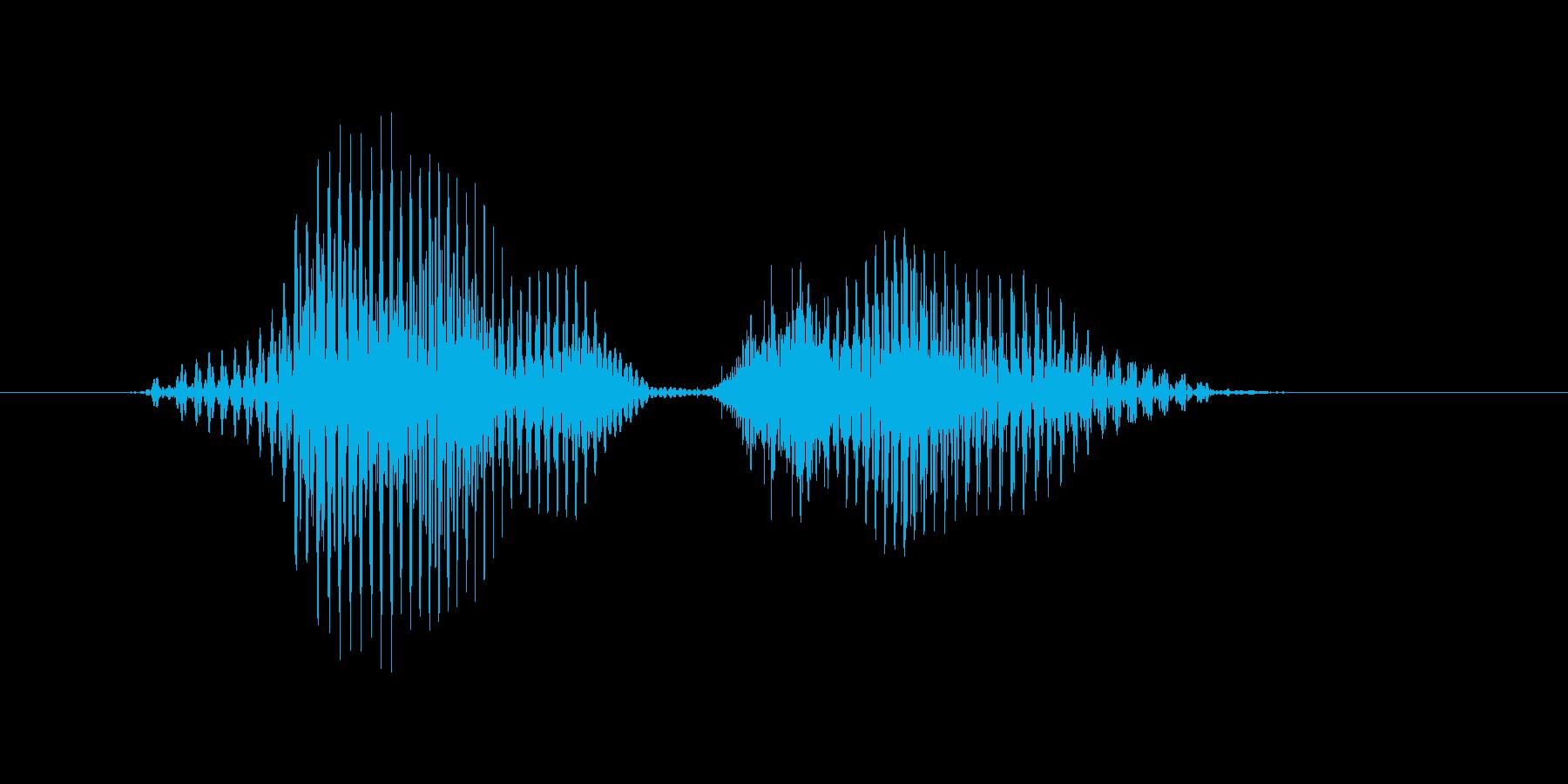 ワンツーの再生済みの波形