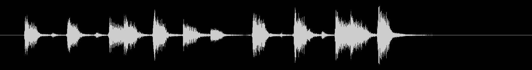 ジャンジャジャン(明るく穏やかなアコギ)の未再生の波形
