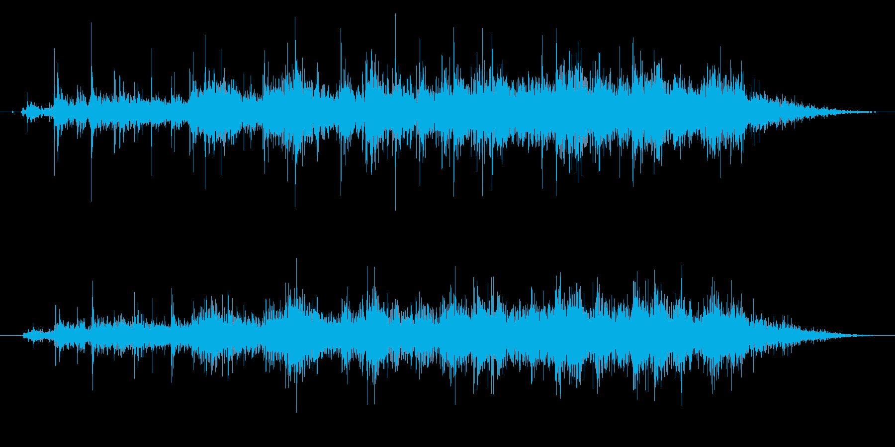 ステレオ感のある拍手、拍手喝采の効果音1の再生済みの波形