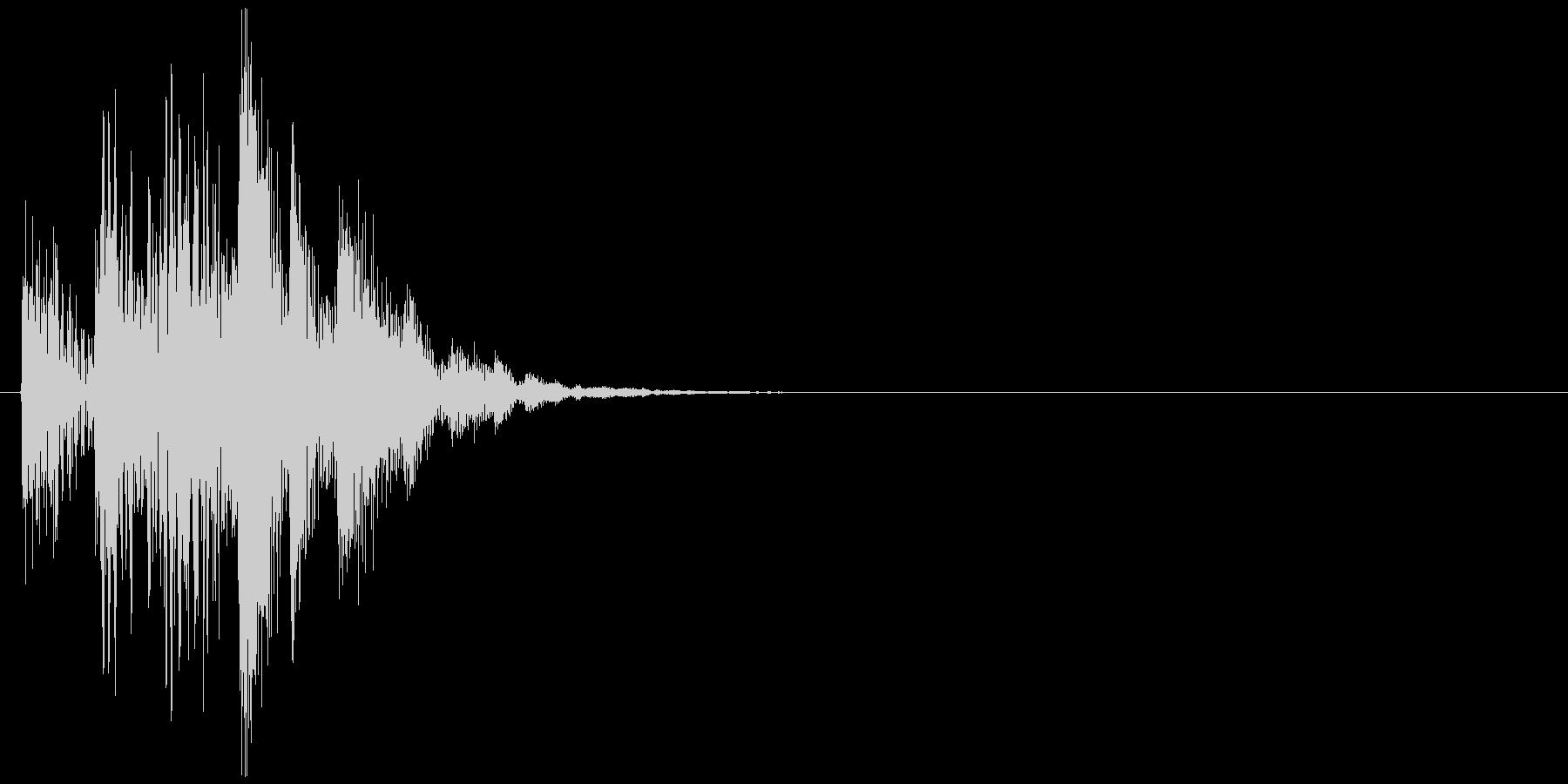 コンピューターの起動音のような効果音の未再生の波形